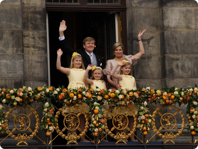 """King Willem-Alexander, Queen Maxima and their daughters 2013"" by Floris Looijesteijn - Flickr: De prinsesjes - DSC02380. Licensed under CC BY 2.0 via Wikimedia Commons - http://commons.wikimedia.org/wiki/File:King_Willem-Alexander,_Queen_Maxima_and_their_daughters_2013.jpg#/media/File:King_Willem-Alexander,_Queen_Maxima_and_their_daughters_2013.jpg"