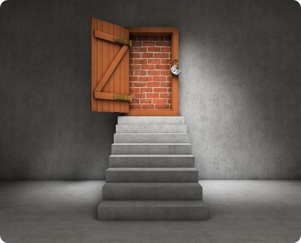 blocked stairs